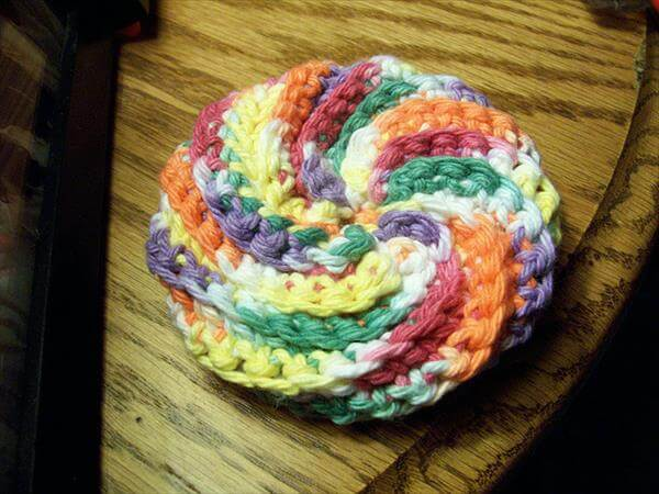 easy spiral scrubby pattern