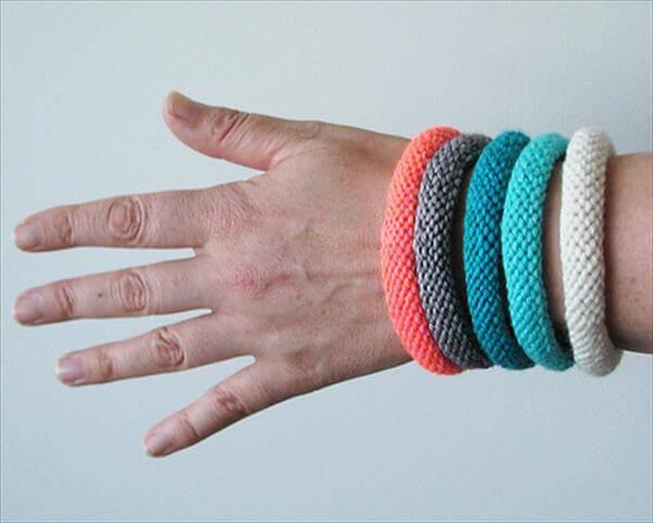 Knitted Bracelets Free Patterns : 10 Easy and Free Crochet Bracelet Patterns 101 Crochet