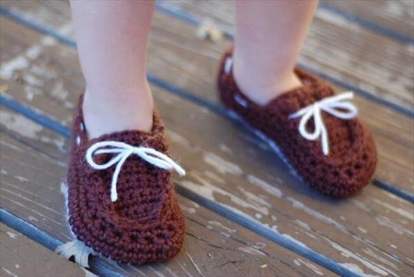 easy crochet baby boat booties