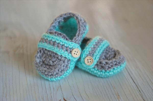 Free Crochet Pattern For Baby Boat Shoes : Free Crochet Baby Boat Booties 101 Crochet