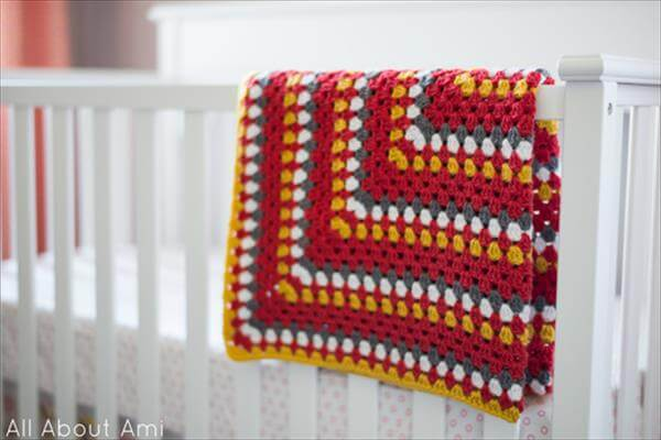no-cost crochet winter baby warmer or blanket