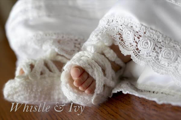 free crochet baby gladiator sandal pattern