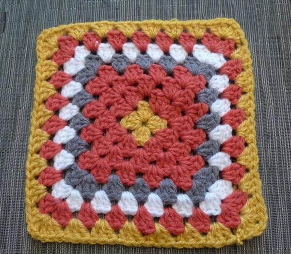 free granny square baby winter blanket