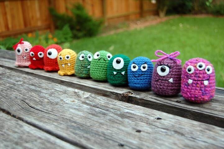 free crochet monsters