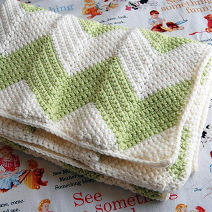 Facebook Crochet Patterns : Free Chevron Crochet Baby Blanket Pattern 101 Crochet