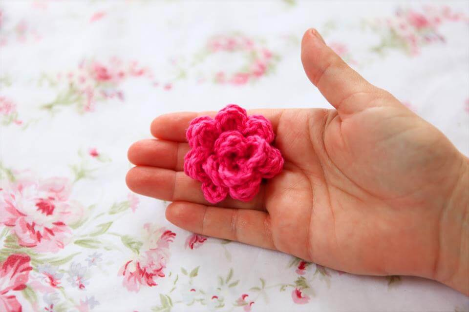 free crochet rose pattern