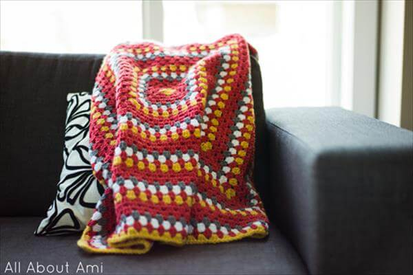 easy crochet granny square blanket pattern