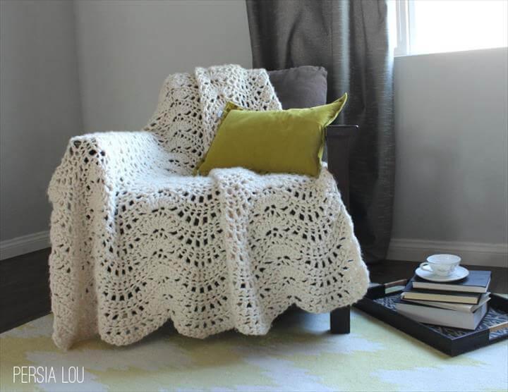 crochet afghan or throw pattern