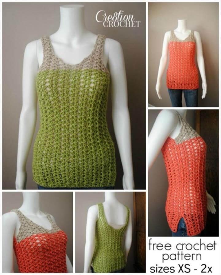 easy crochet breezy shell tank pattern