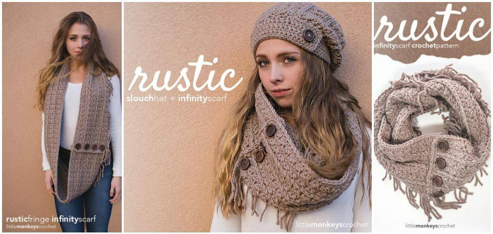 easy crochet rustic slouchy hat pattern