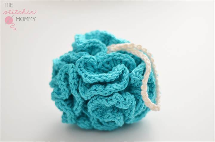 diy crochet puffy bath pauf