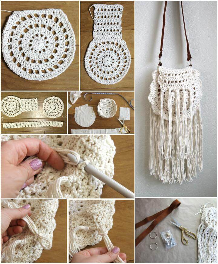 super stylish crochet boho tassel bag pattern