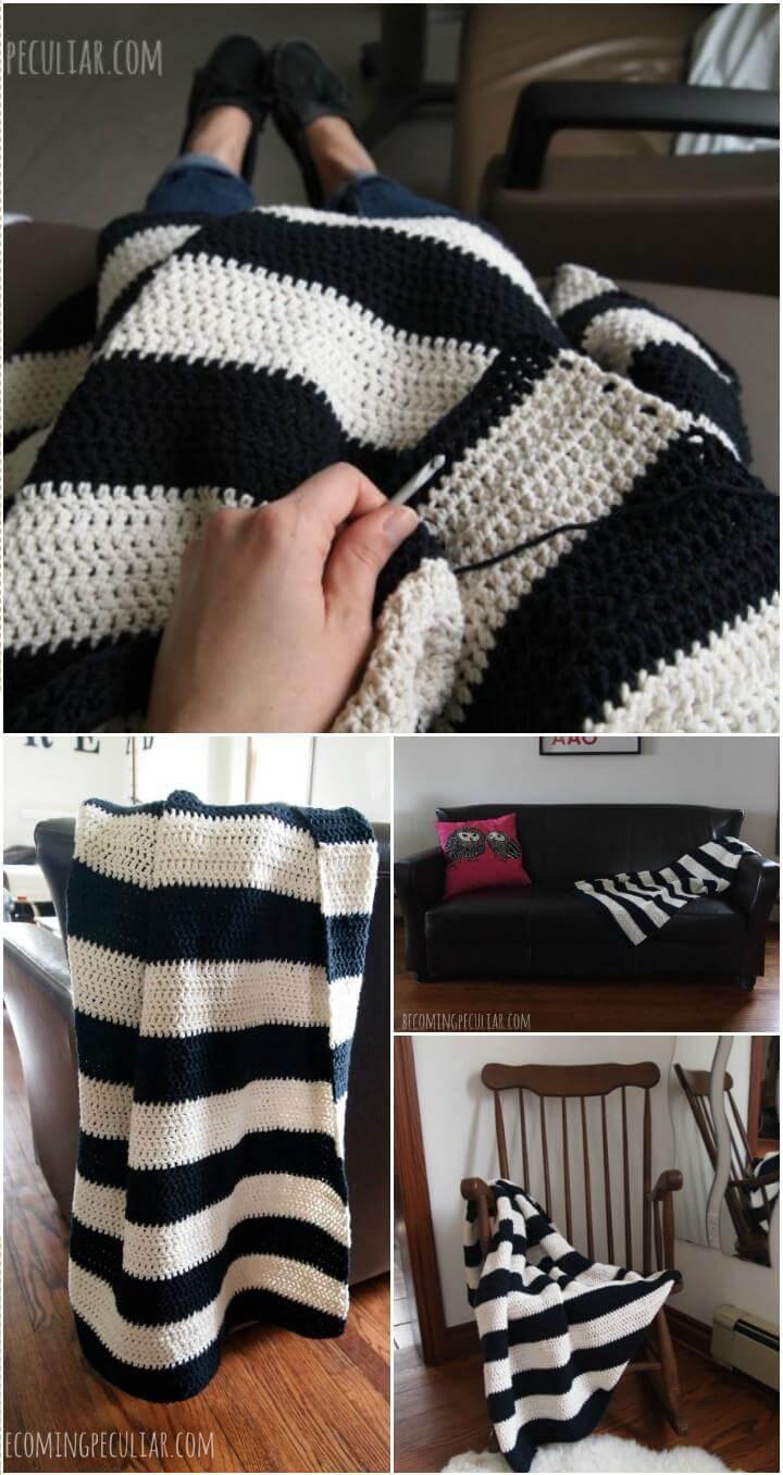 crochet blanket throw pattern
