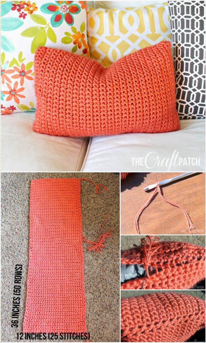 free easy crochet throw pillow
