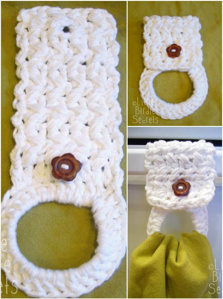 awesome crochet towel rack