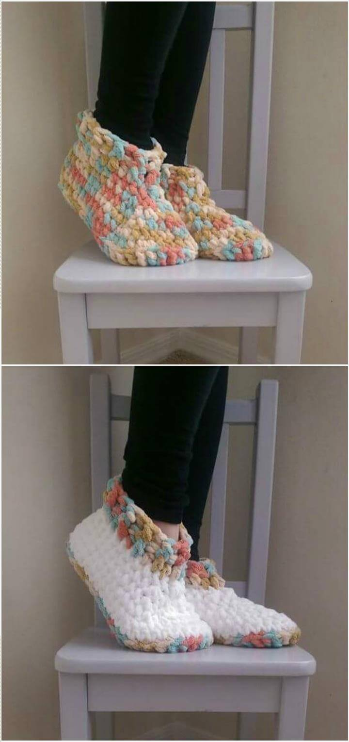 stylish crochet slippers pattern
