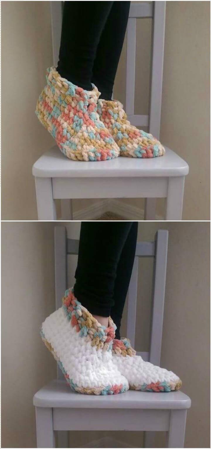 stylish crochet slippers pattern