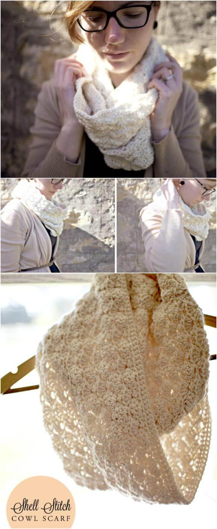 free crochet cowl scarf pattern
