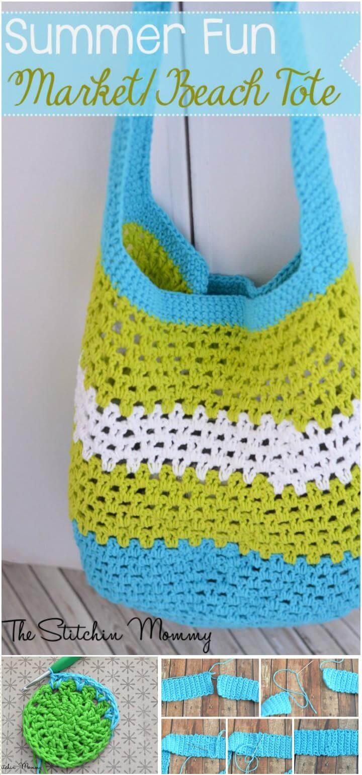 free crochet beach or market tote pattern