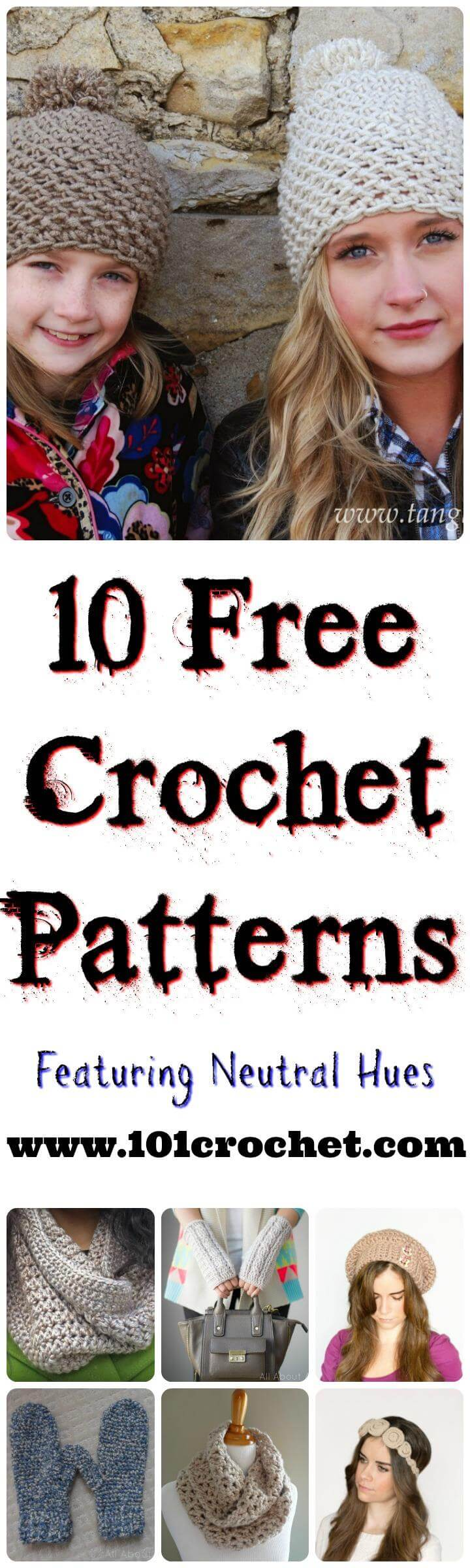 Facebook Crochet Patterns : 10 Free Crochet Patterns Featuring Neutral Hues 101 Crochet