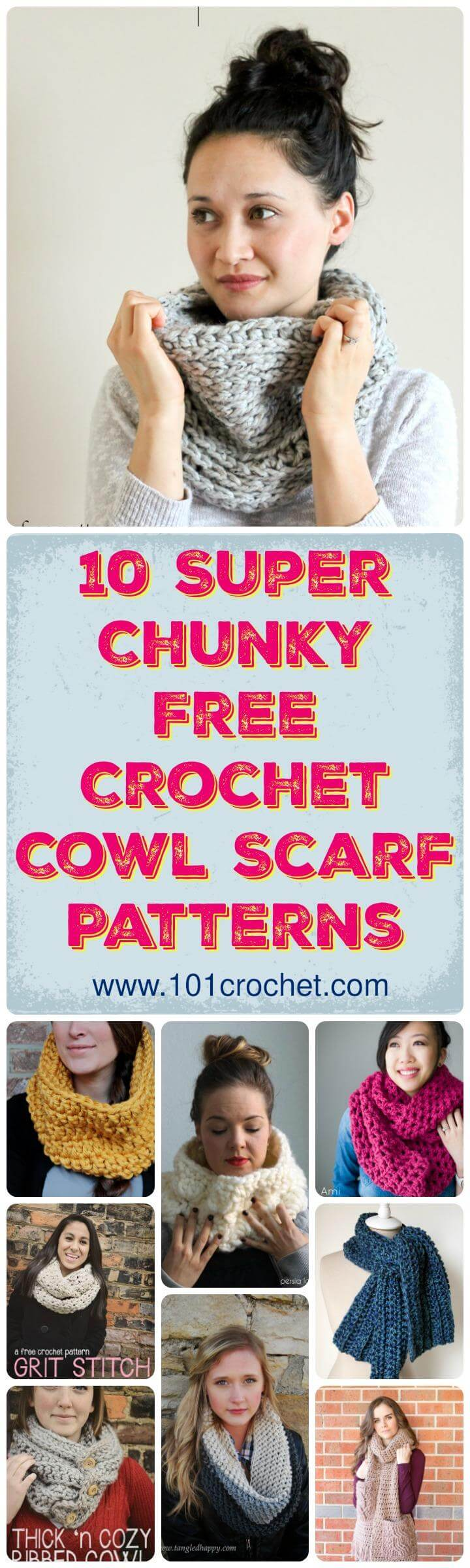 Free Crochet Cowl Scarf Patterns