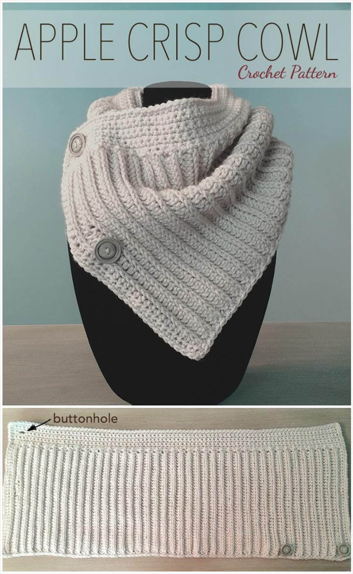 crochet apple crisp cowl