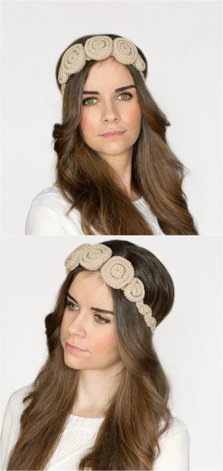 easy crochet aurora headband pattern