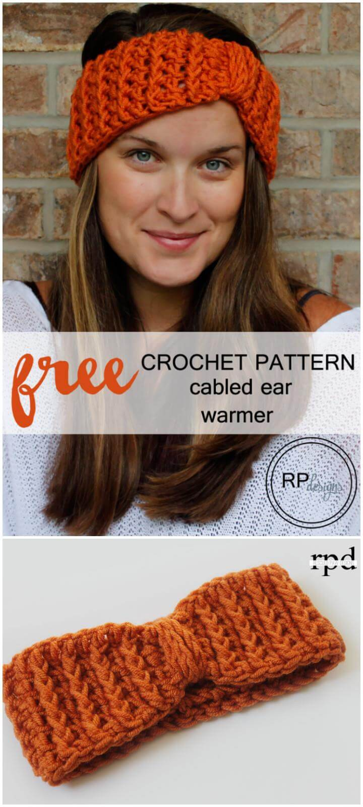 easy crochet cabled earwarmers