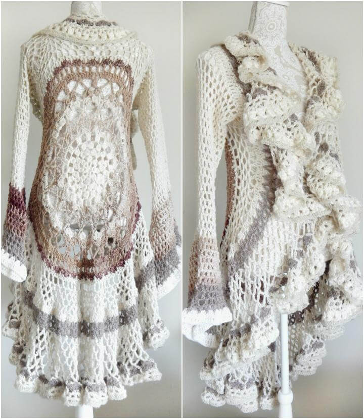 Free Crochet Patterns For Circular Vest : 12 Free Crochet Patterns for Circular Vest Jacket 101 ...