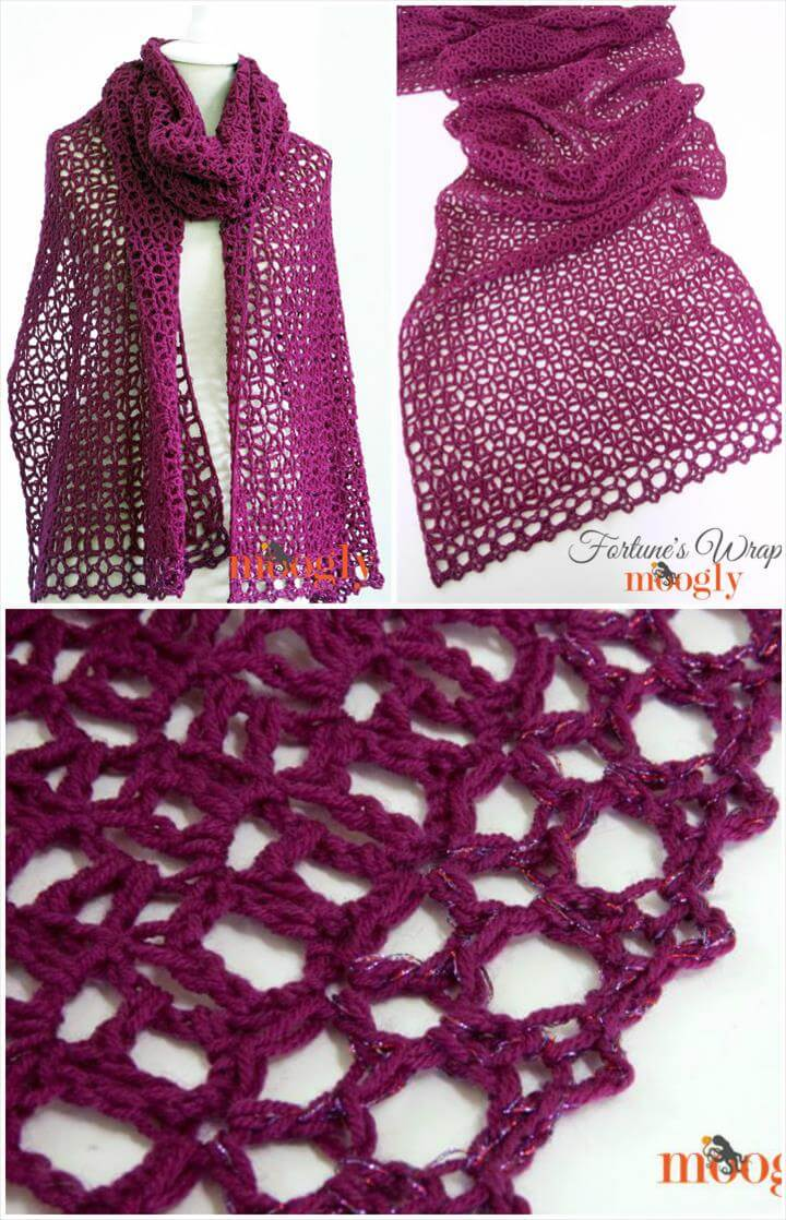 crochet fortune's wrap or shawl