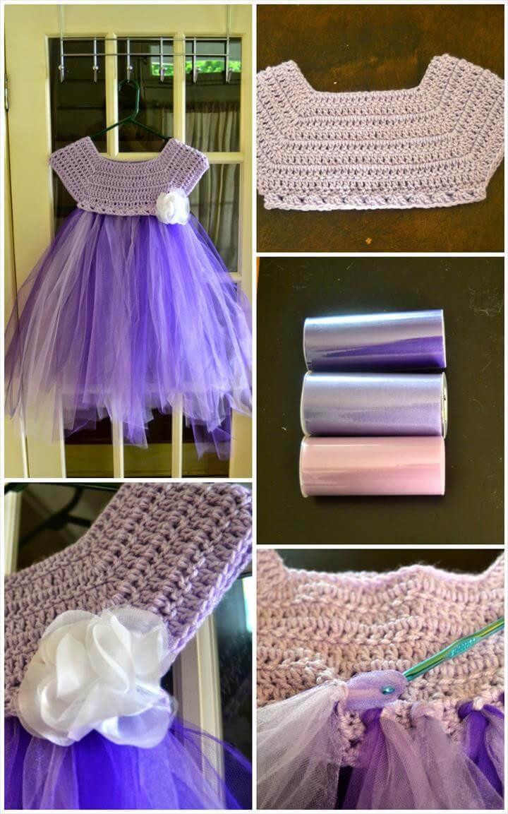 crochet kassia empire waist free tutu dress pattern