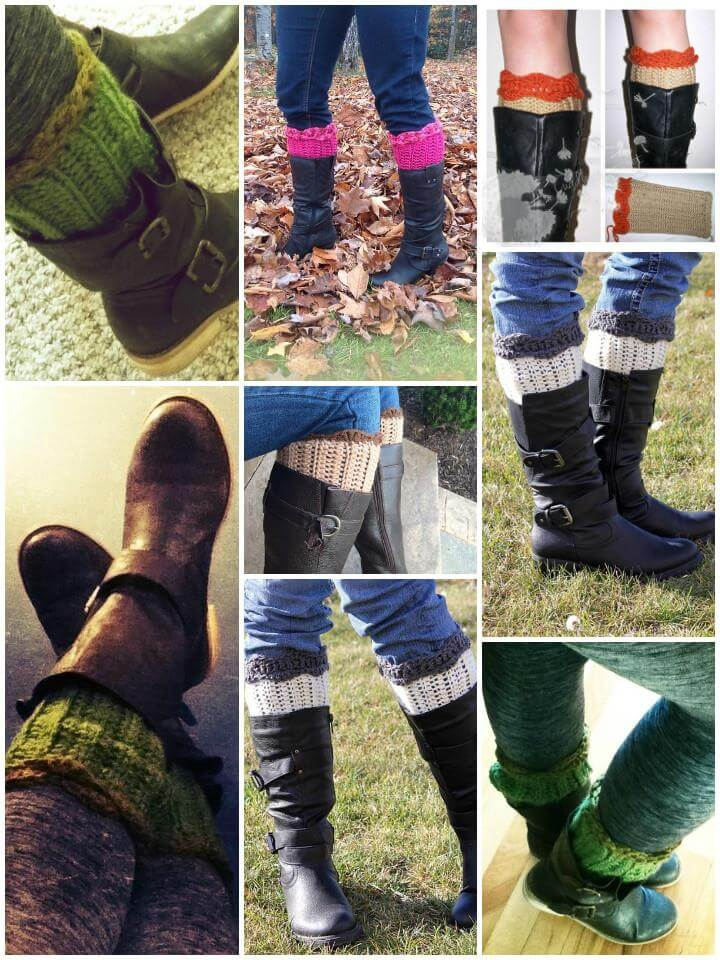 easy crochet boot cuffs