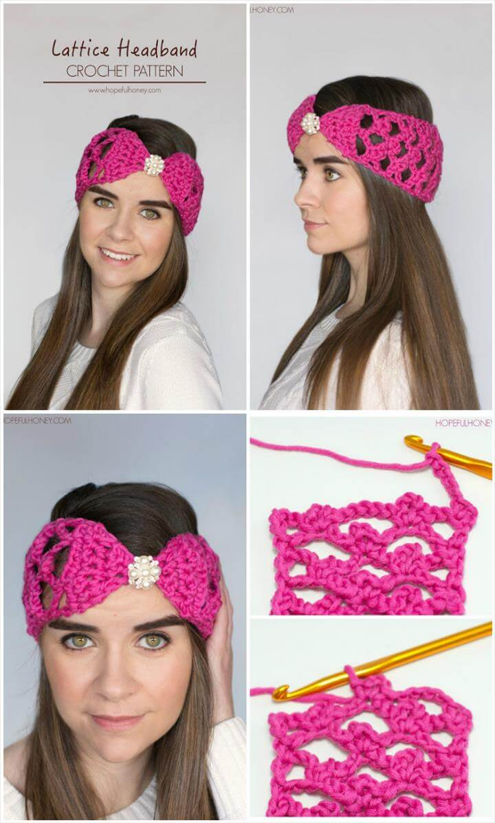 easy crochet lattice headband