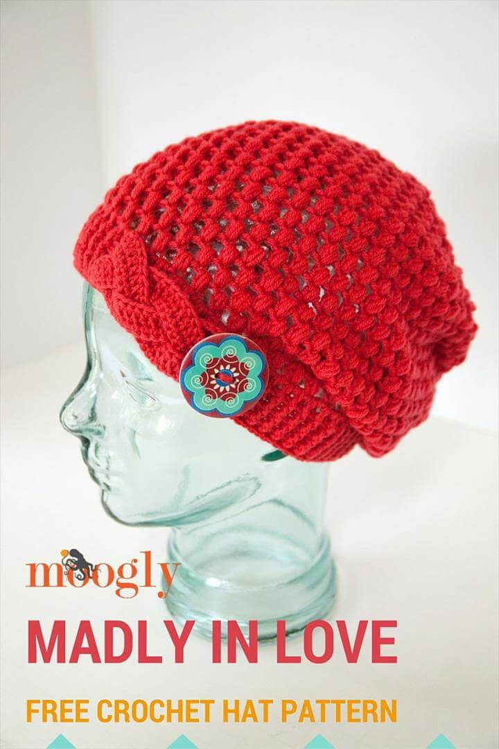 crochet madly in love hat