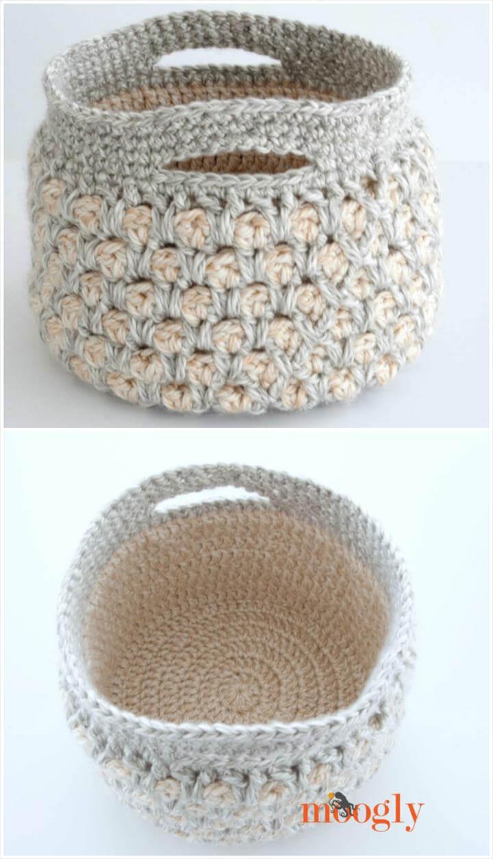 10 Free Crochet Basket Patterns For Beginners 101 Crochet