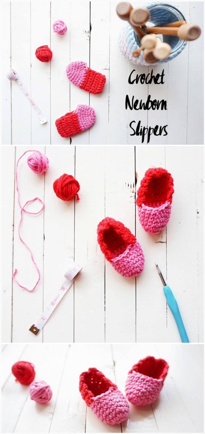 quick and easy crochet newborn baby booties