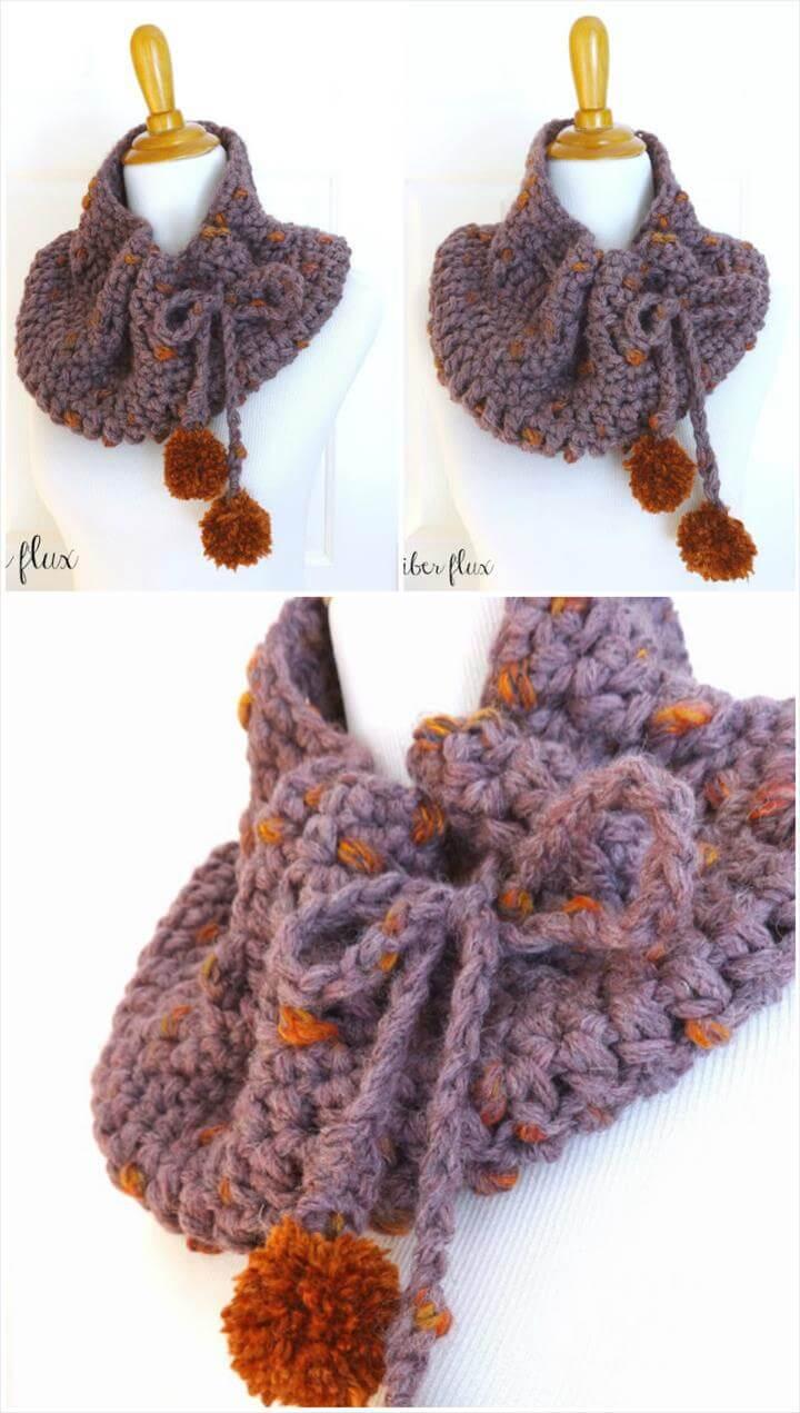 free crochet plum skies cowl