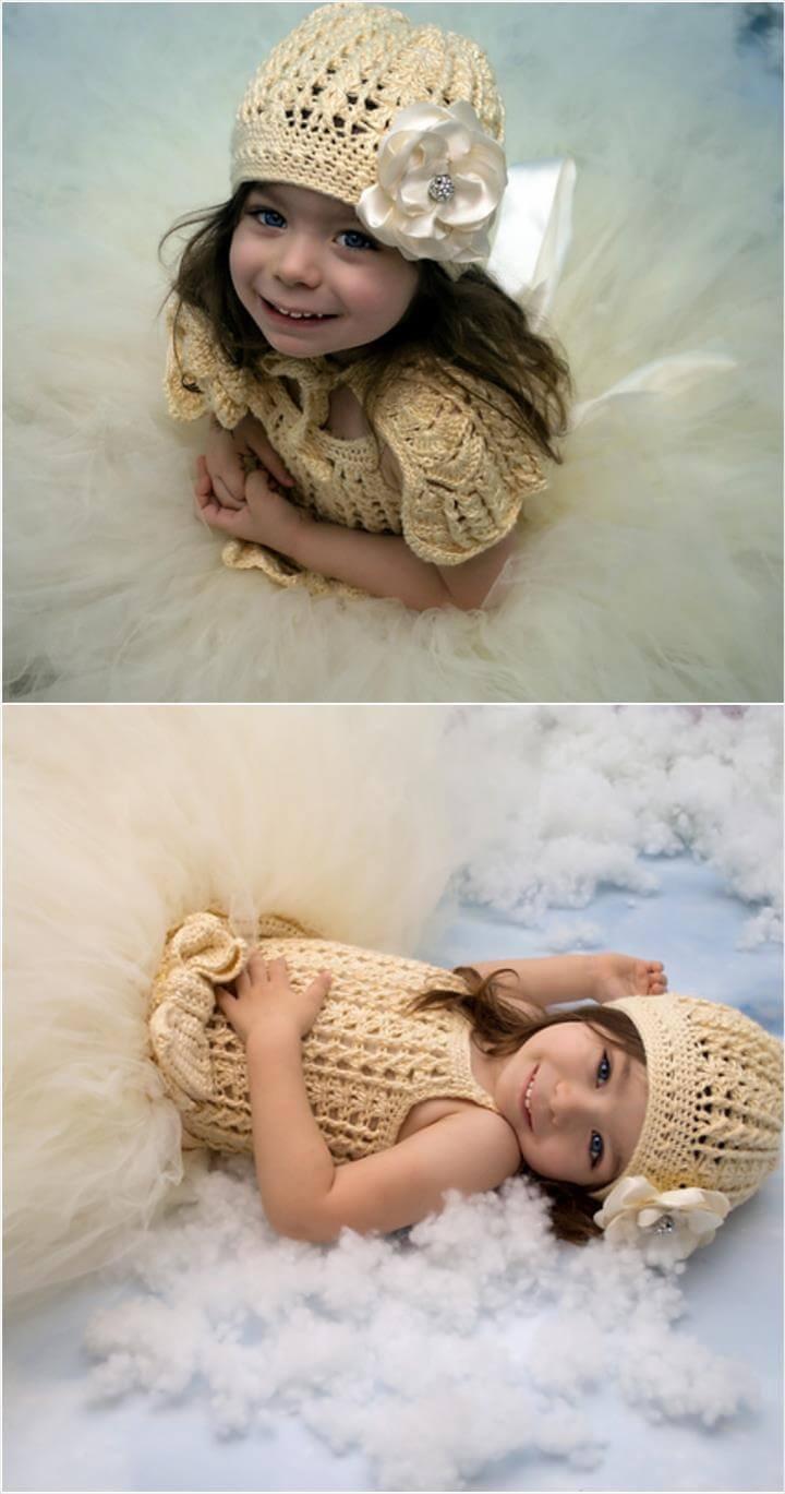 free crochet princess tutu dress and hat pattern