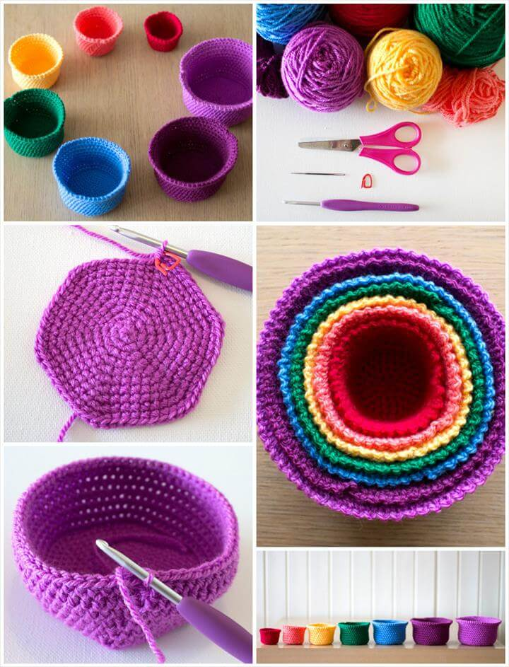 Moroccan Basket Free Crochet Pattern : 10 Free Crochet Basket Patterns for Beginners 101 Crochet