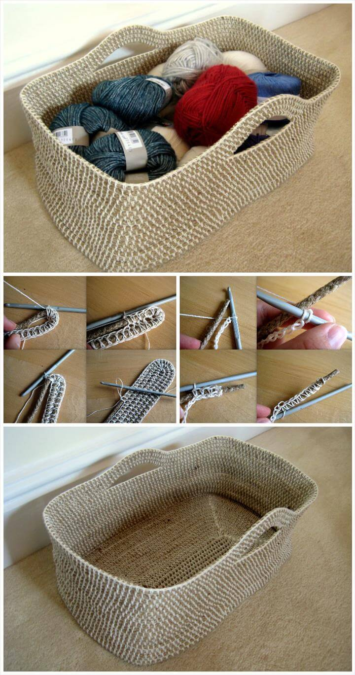 Do It Yourself Home Design: 10 Free Crochet Basket Patterns For Beginners