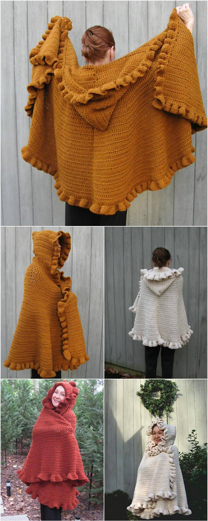 easy crochet ruffled shawl free pattern