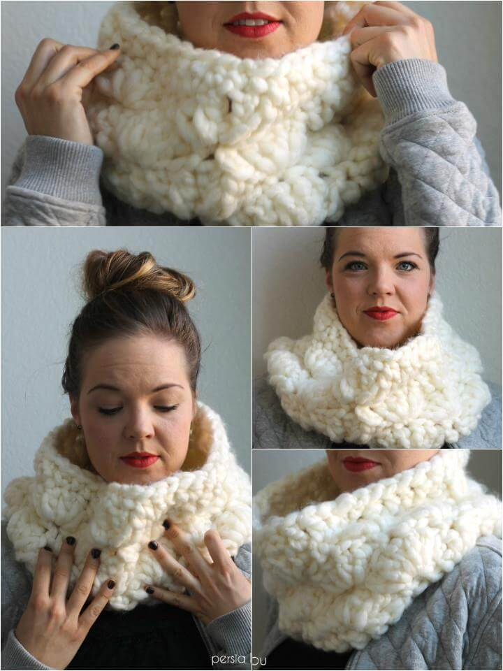 extra chunky crochet cowl pattern
