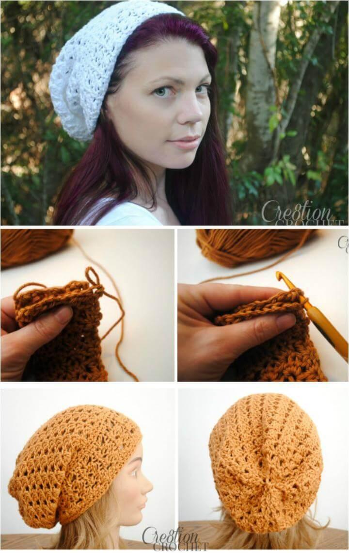 free crochet trinity slouch hat pattern