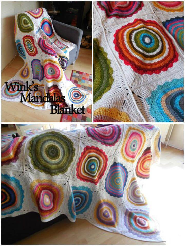 crochet mandala motif blanket