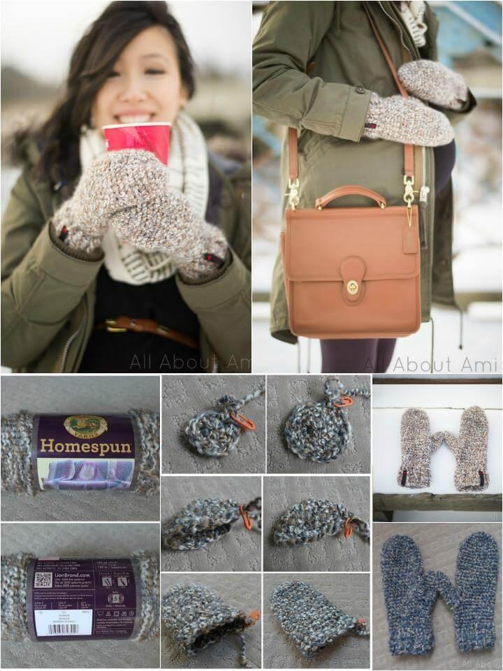easy crochet cozy mitten pattern