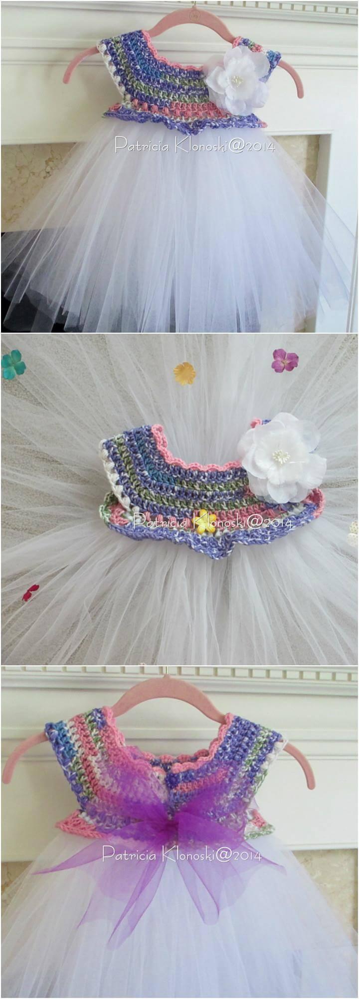 Free Crochet Tulle Dress Pattern : 10 Free Crochet Patterns for Girl Tutu Dress Top 101 Crochet