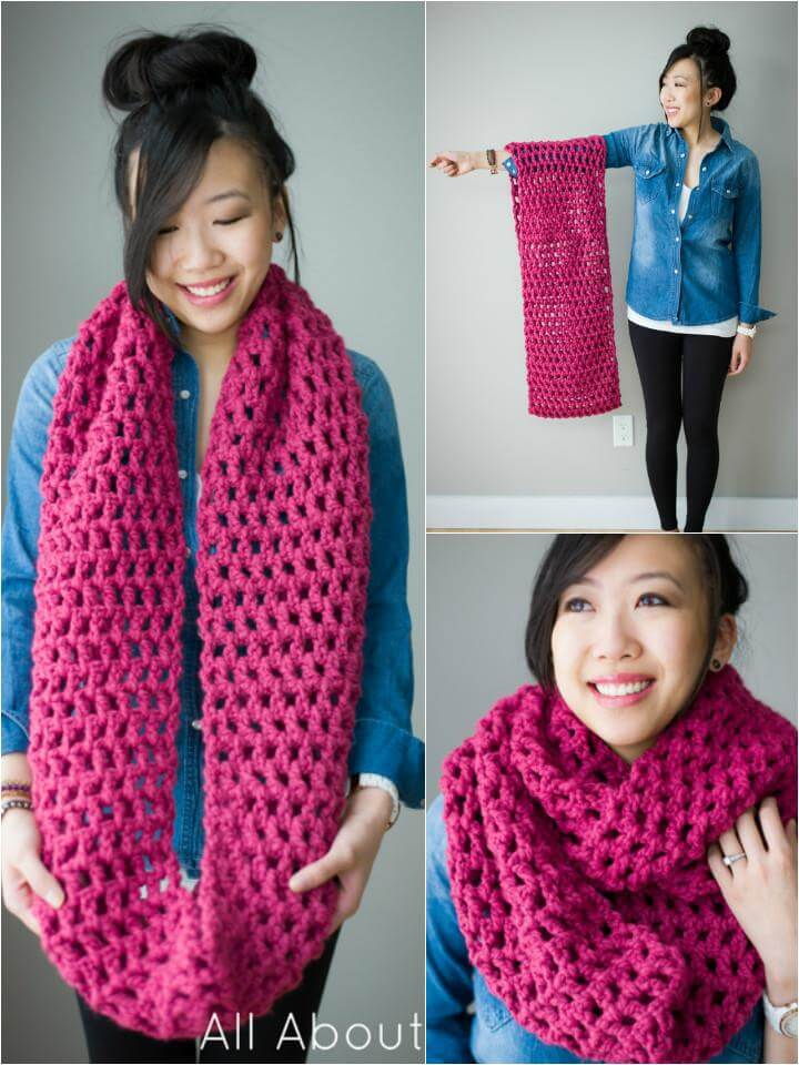 crochet double cowl pattern