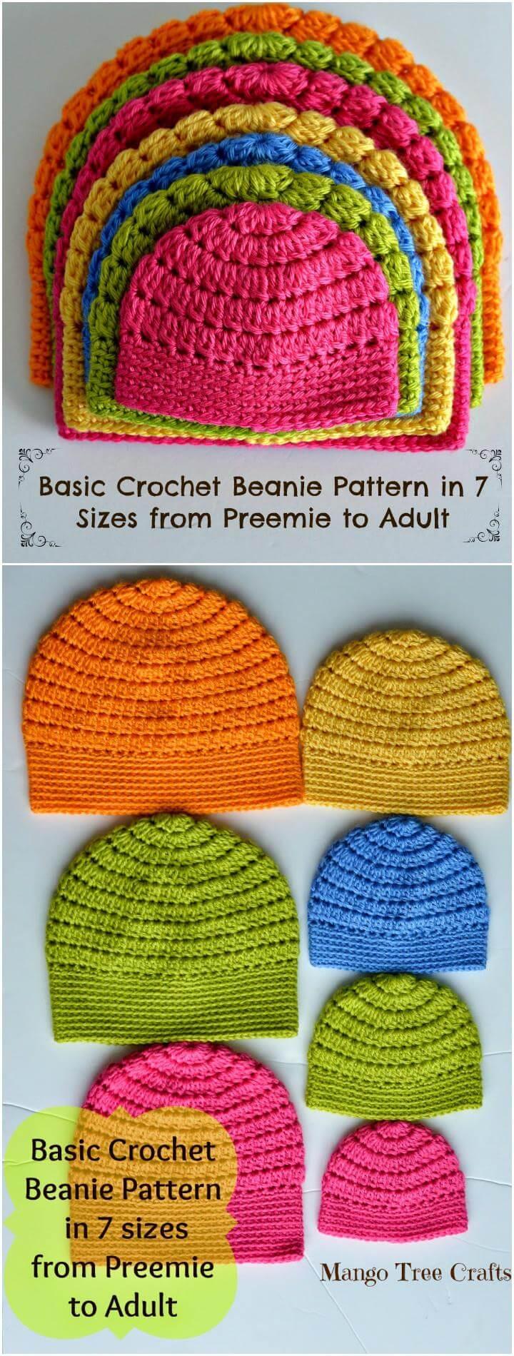 mango tree crafts crochet hat sizes